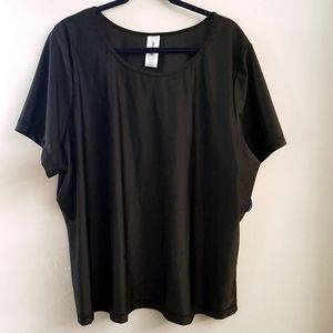 Swimsuits For All Black Short Sleeve Top/Coverup